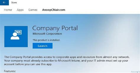 Intune Company Portal Login Issues with Windows 10 1607