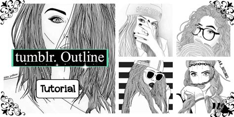 how to make tumblr outline - YouTube