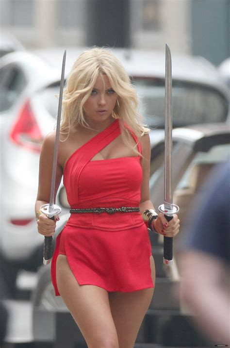 ASHLEY BENSON on the Set of Pixels in Toronto - HawtCelebs