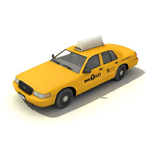 New York Taxi Car 3D Model Game ready