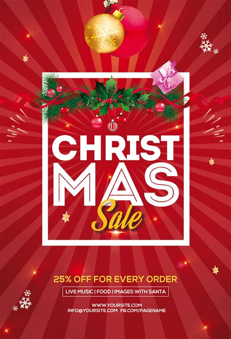 Christmas Sale Free PSD Flyer Template | FreebieDesign