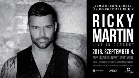Ricky Martin is coming to Budapest! – Daily News Hungary