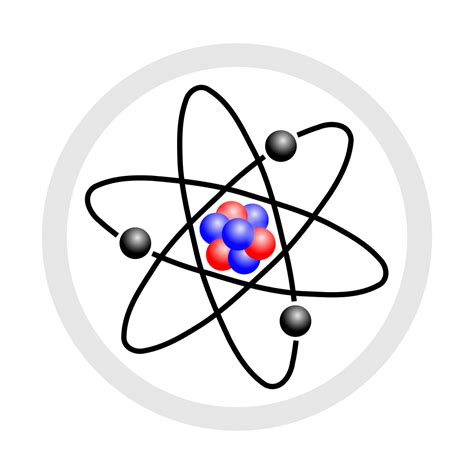 File:Stylised atom with three Bohr model orbits and