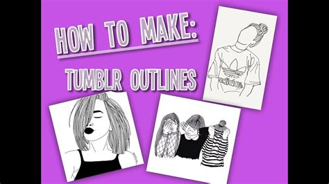 How to make tumblr outlines - YouTube