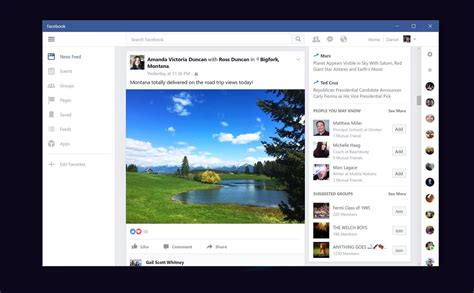 Facebook for Windows 10 on PC is now available to download