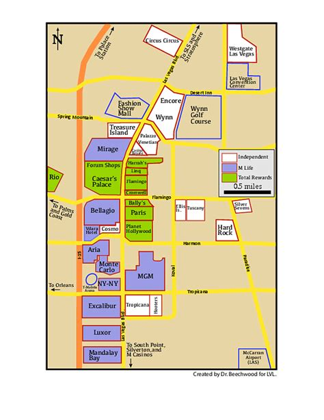 Las Vegas Strip Map - Page 4 - Las Vegas Lifestyle Forum