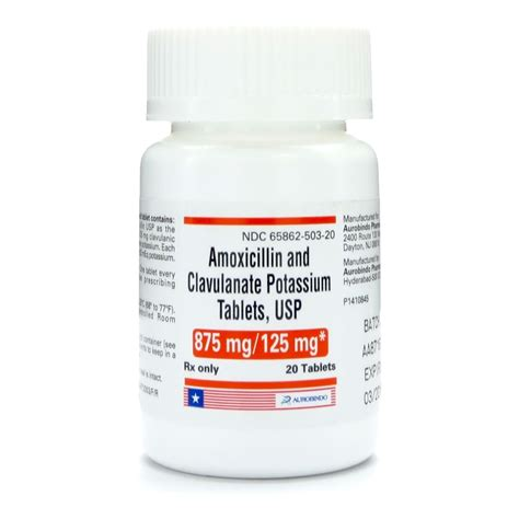 Amoxicillin Pot Clavulanate 875 125 Mg Oral Tablet
