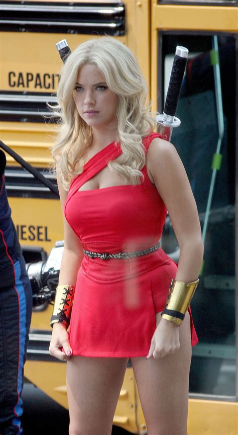 ASHLEY BENSON on the Pixel Movie Set in Toronto – HawtCelebs