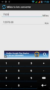 Miles to km converter - Android Apps on Google Play