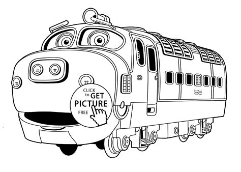 Chuggington coloring pages, Brewster for kids printable free