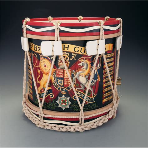 British Military Style Drums and Helmet