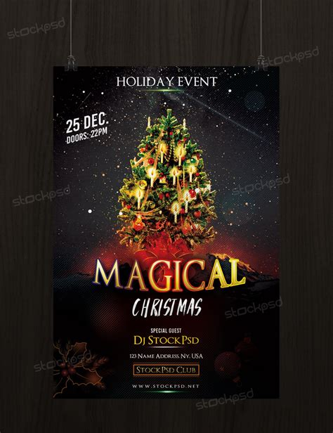 Download Magical Christmas - Free PSD Flyer Template