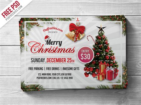 Merry Christmas Party Flyer PSD Template – Download PSD