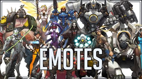 Heroes Of Overwatch: Emotes - YouTube