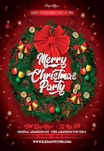 Christmas Party 2017 – Free Flyer PSD Template – by