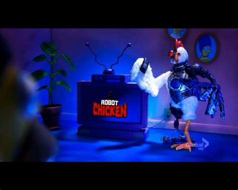 Robot Chicken couch gag - Simpsons Wiki