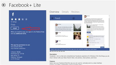 Facebook+ Lite app - Best Facebook client app for Windows 8