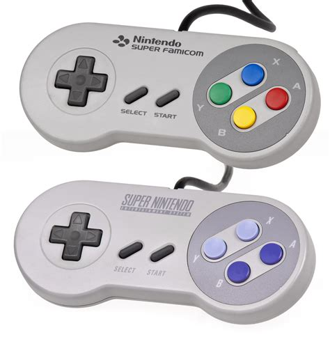 The US SNES Classic's controller is different from the