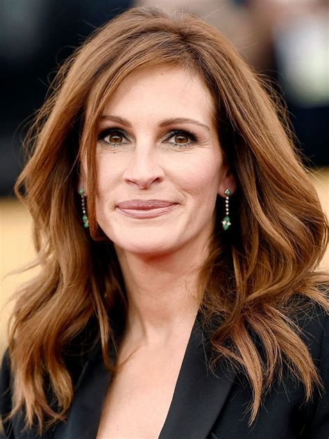 Julia Roberts Medium Brown Lace Front Human Hair Wig