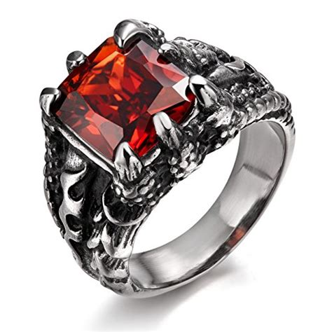 Red Stone Ring: Amazon
