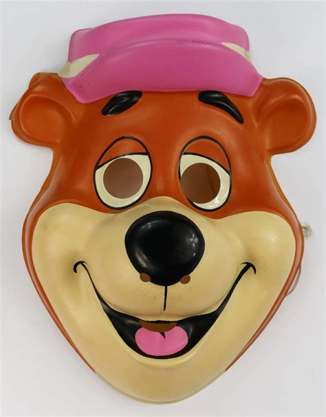Vintage Yogi Bear Halloween Mask Hanna Barbera Huckleberry