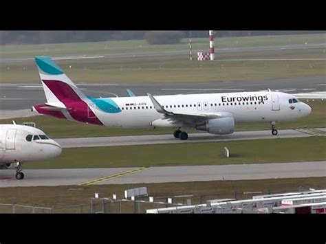 New Eurowings Airbus A320 Sharklets take off ️ Hamburg
