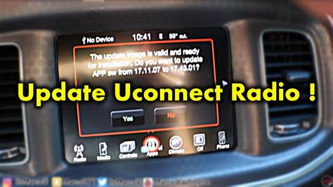 How To Update Uconnect Radio - YouTube