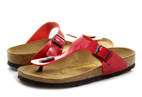 Birkenstock Papucs - Gizeh - 743193-red - Office Shoes
