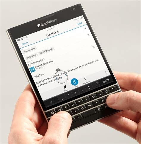 The BlackBerry Passport Re-Invents the Mobile Keyboard