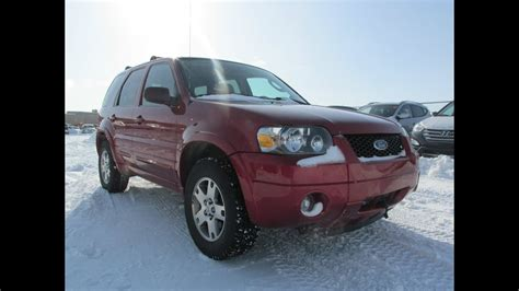 2005 Ford Escape Limited 4WD Start up, Walkaround and