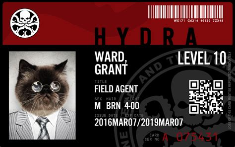 HYDRA ID Badge Generator - Make your own ID card or badge!