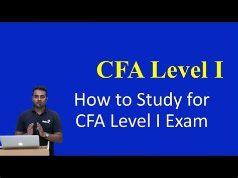 How to Study for CFA Level I Exam - YouTube