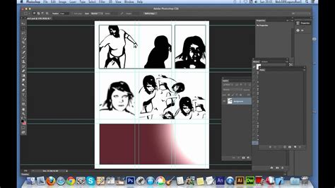 Create a comic book page in Photoshop using people / face